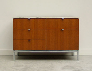 Florence Knoll Case Credenza with marble top