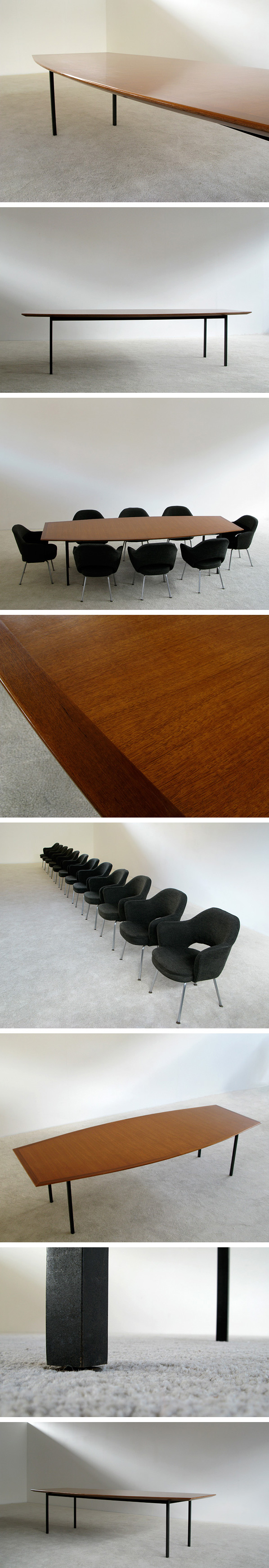 Florence Knoll De Coene Executive conference dinning table Large
