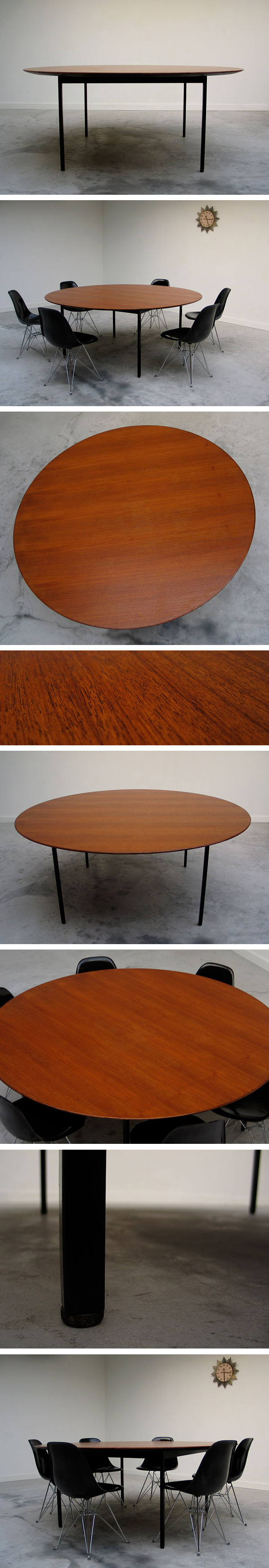 Florence Knoll Executive round conference dining table Large