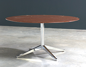 Florence Knoll table or desk in rojo Alicate marble 1961