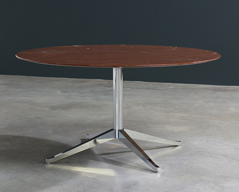 Florence Knoll table or desk in rojo Alicate marble 1961 img 7