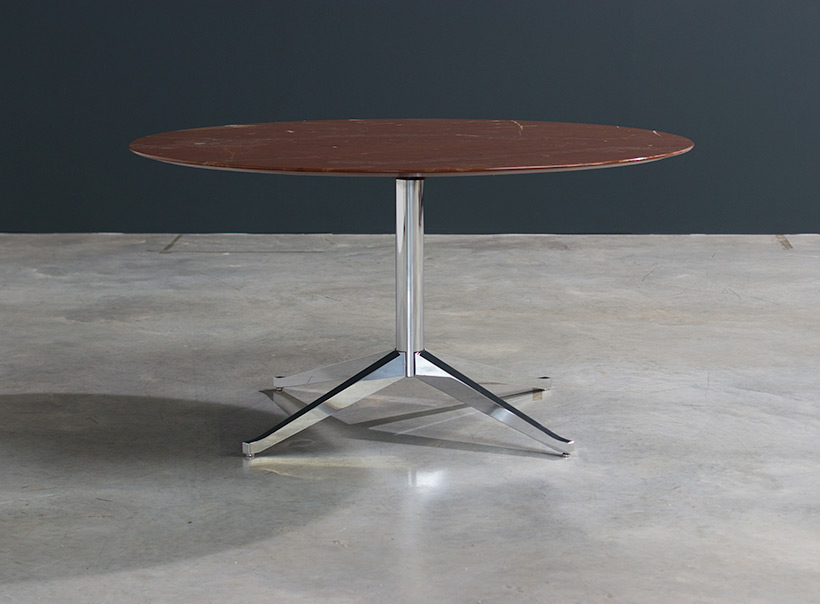 Florence Knoll table or desk in rojo Alicate marble 1961 img 8