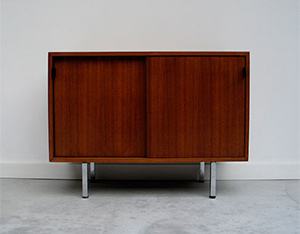 Florence Knoll Walnut Case Credenza