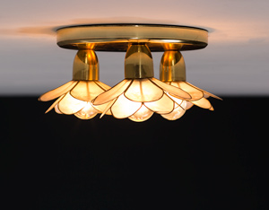 Flower lotus ceiling lamp Mother of Pearl Boulanger