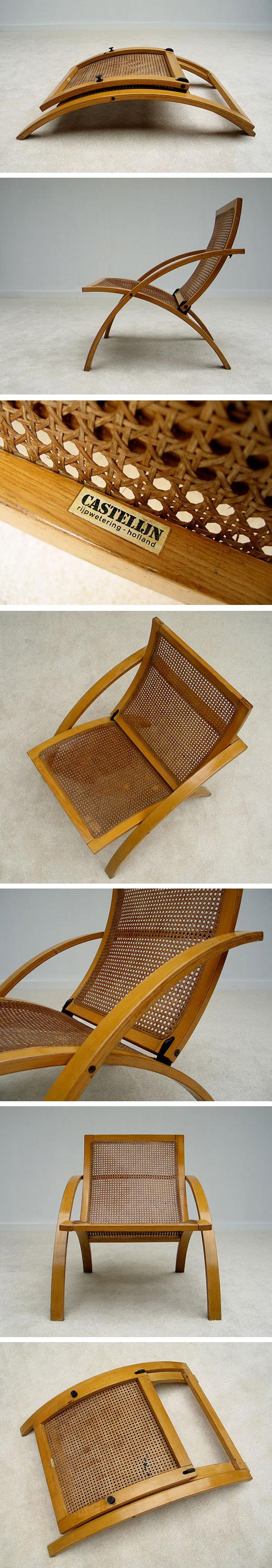 Folding chair Gijs Bakker Castelijn 1976 Large