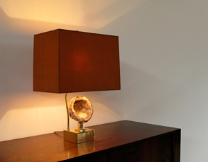France Agate table lamp Willy Daro