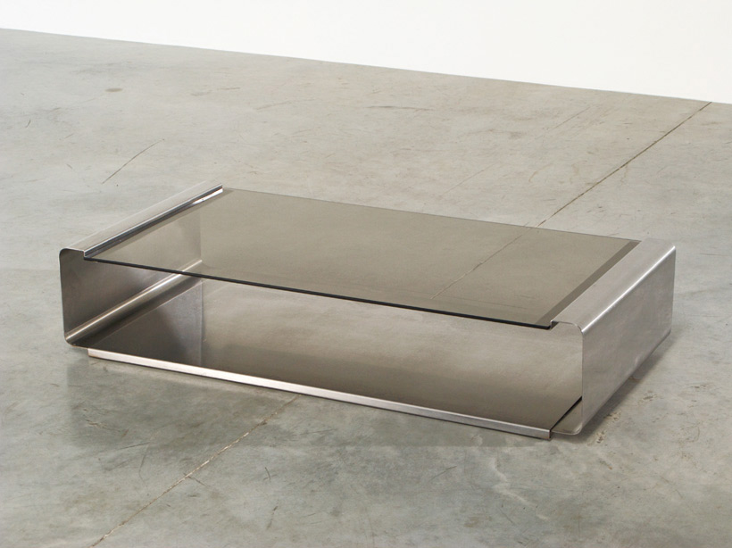 Francois Monnet Stainless steel coffee table Kappa