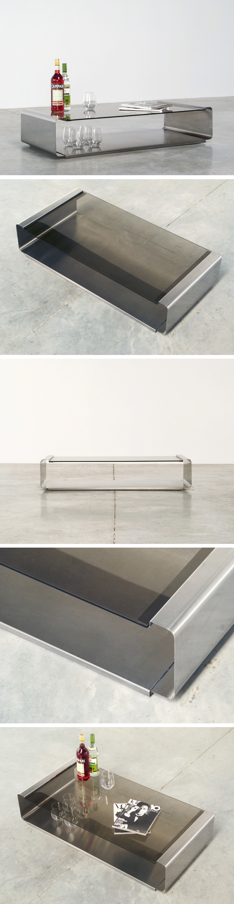 Francois Monnet Stainless steel coffee table Kappa Large