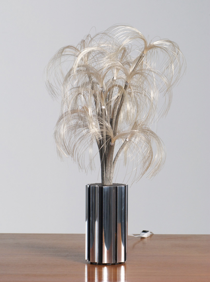 French fibre optic chrome table lamp Starlight