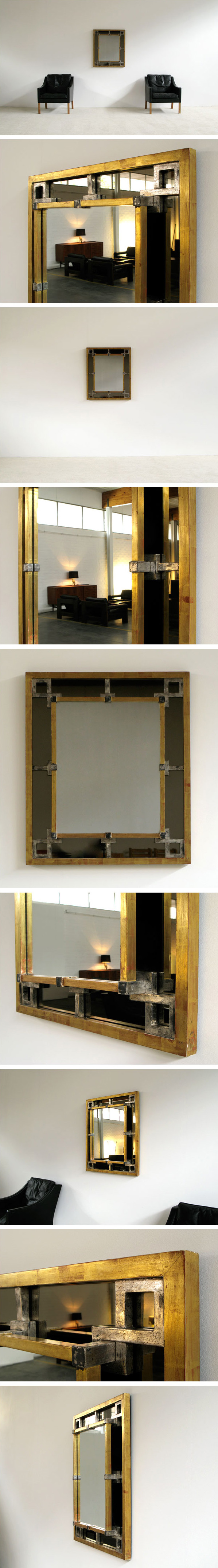 French large two layers giltwood Mirror Large