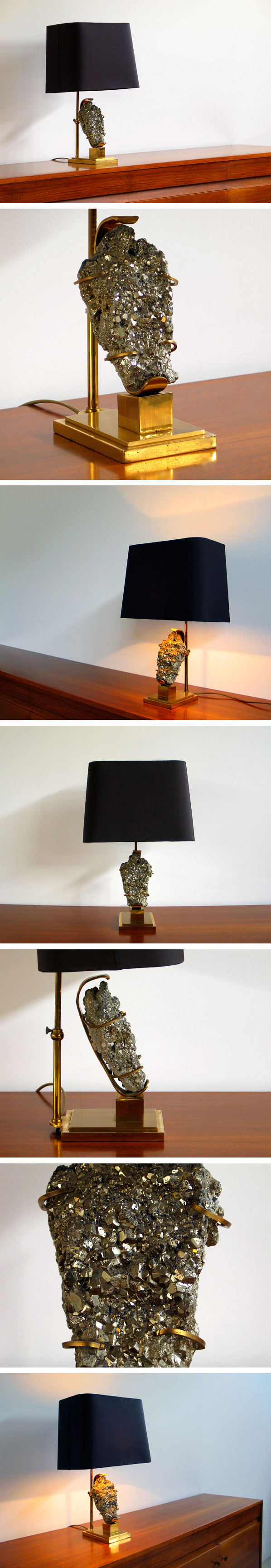 French table lamp with Pyrite Willy Daro Large