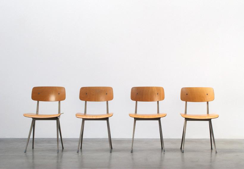 Friso Kramer 4 Industrial Result chairs Ahrend de Cirkel