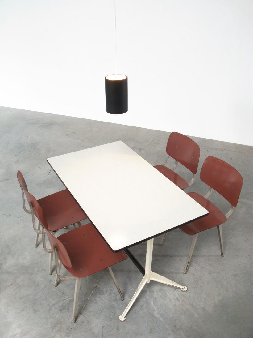 Friso Kramer 4 Industrial Revolt chairs Ahrend de Cirkel 1953 Large