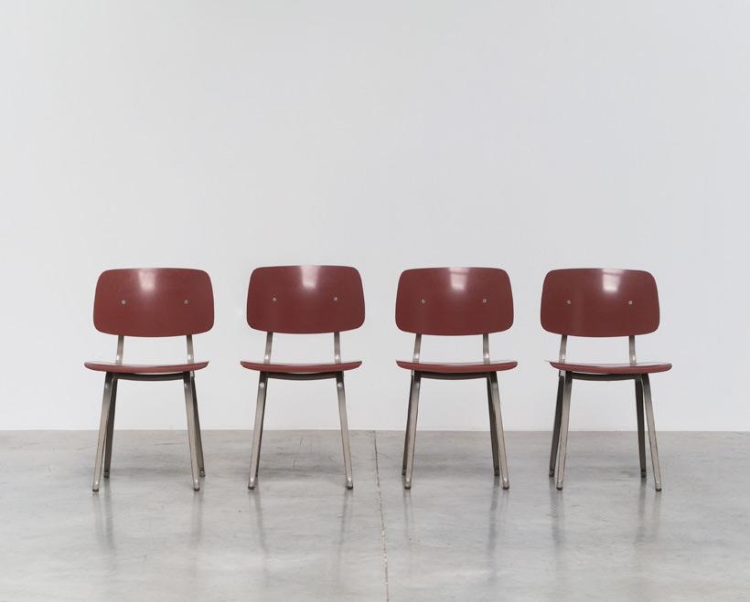 Friso Kramer 4 industrial Revolt chairs Ahrend de Cirkel
