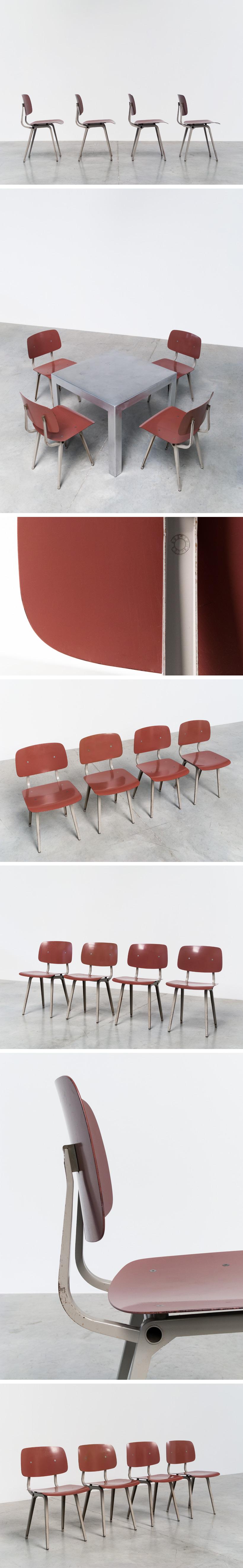 Friso Kramer 4 industrial Revolt chairs Ahrend de Cirkel Large