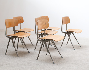 Friso Kramer 6 Industrial Result chairs Ahrend de Cirkel
