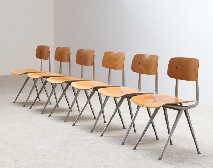 Friso Kramer 6 Industrial Result chairs Ahrend de Cirkel Large