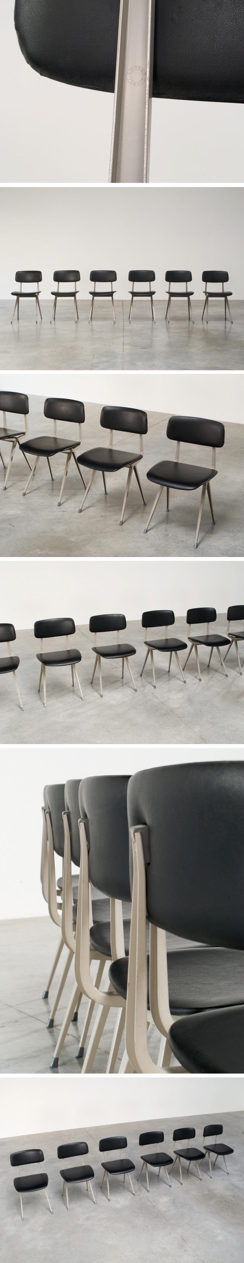 Friso Kramer 6 Vinyl Industrial Result chairs Ahrend de Cirkel Large