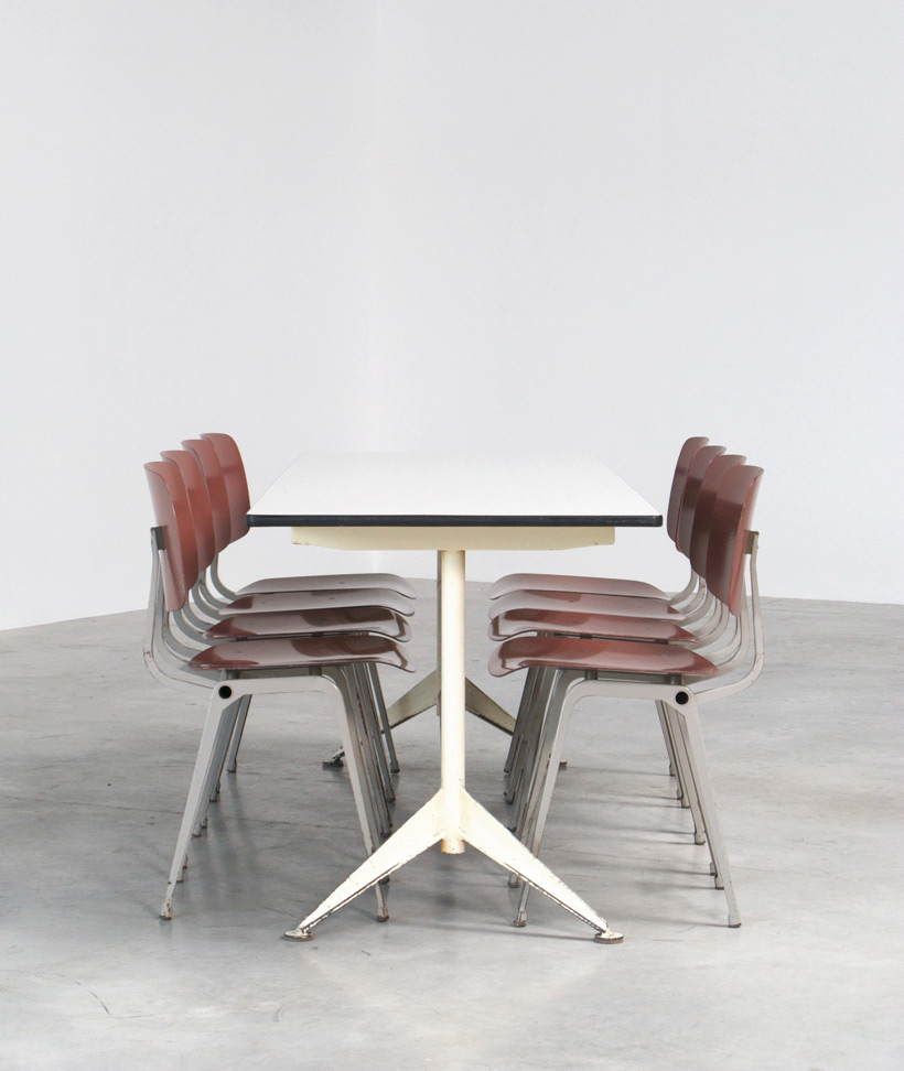 Friso Kramer 8 Maroon and Grey Revolt chairs for Ahrend de Cirkel 1953 img 4