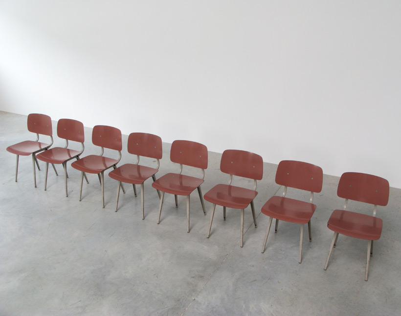 Friso Kramer 8 Maroon and Grey Revolt chairs for Ahrend de Cirkel 1953 img 7