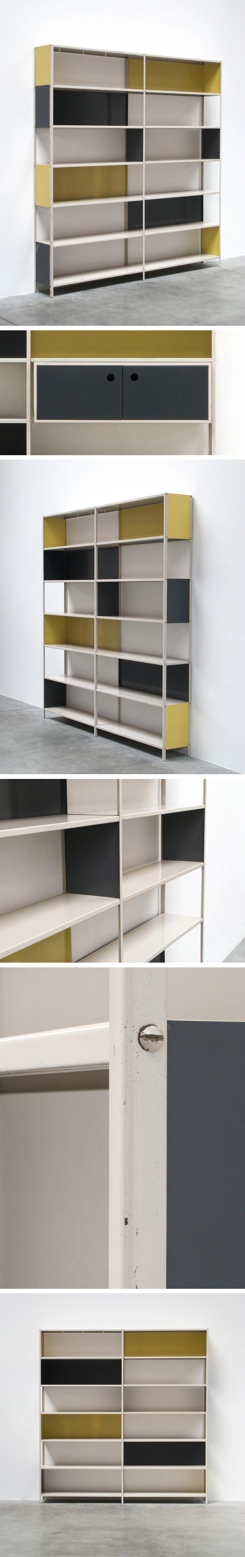 Friso Kramer Asmeta modular shelving wall unit 1953 Large