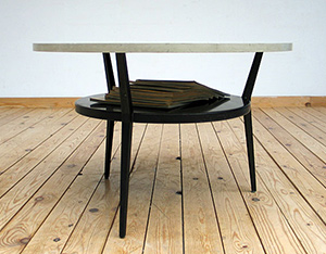 Friso Kramer industrial metal coffee table