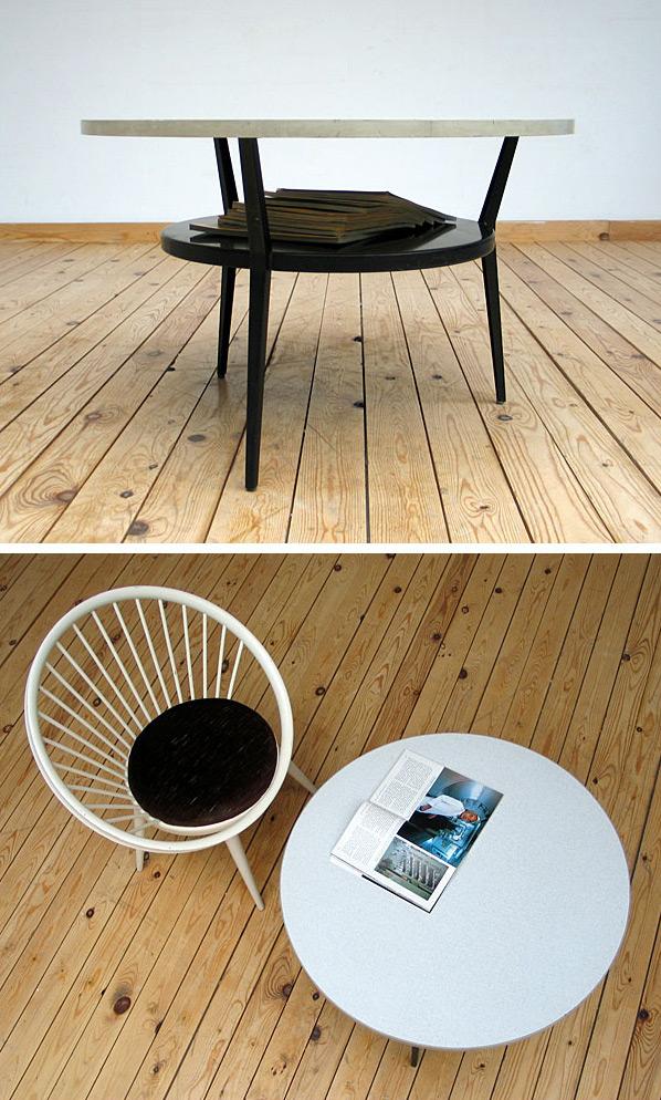 Friso Kramer industrial metal coffee table Large