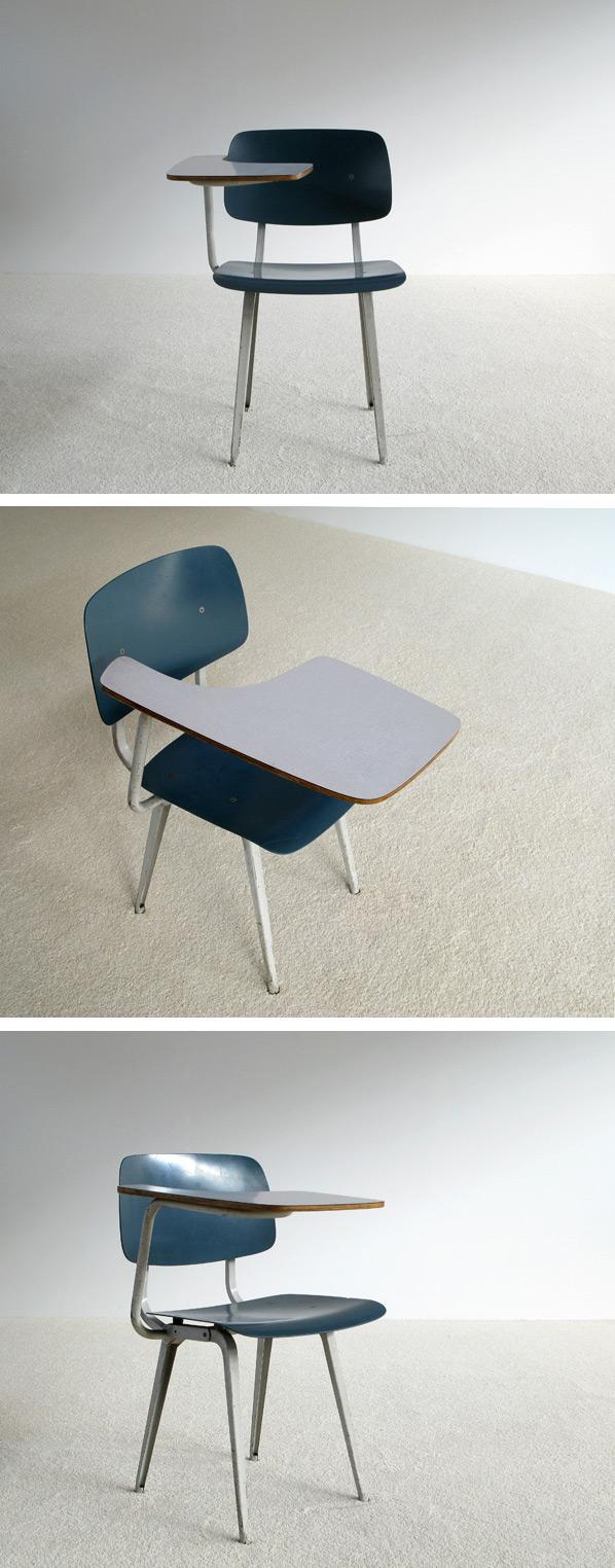 Friso Kramer industrial Revolt chair desk 1953 Large