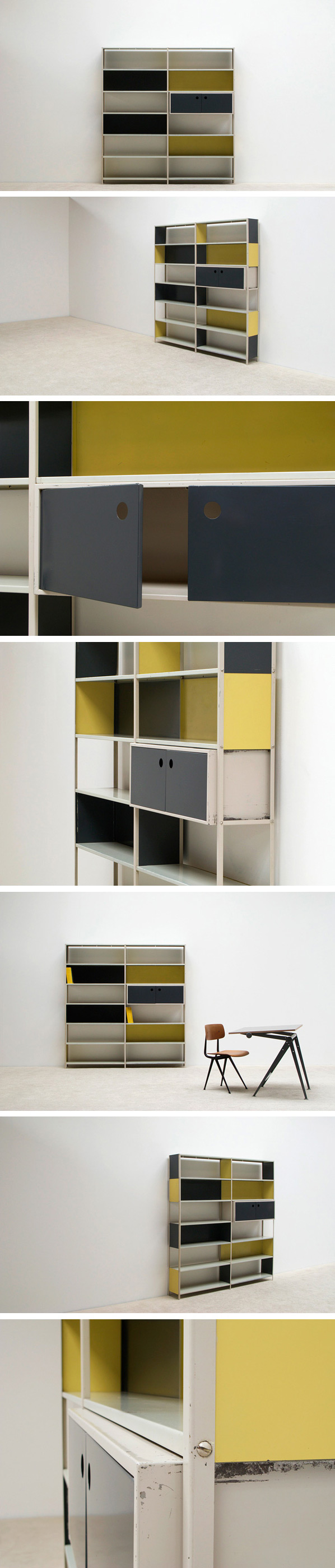 Friso Kramer modular shelving wall unit Asmeta 1953 Large
