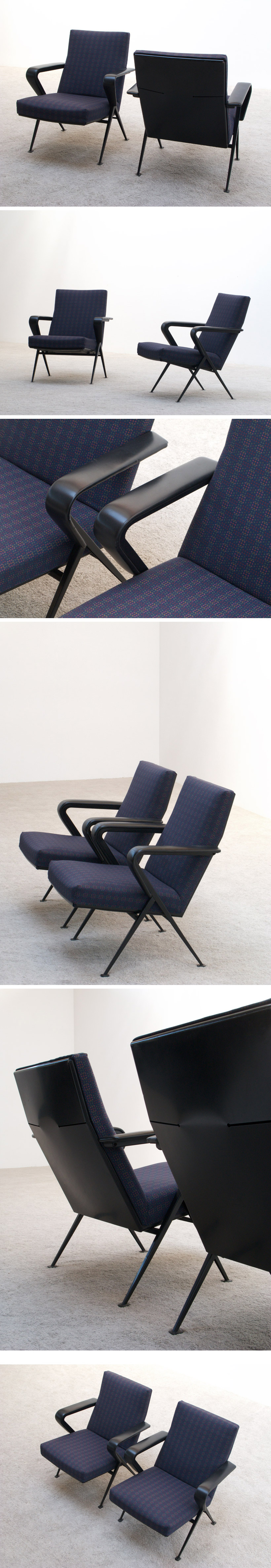 Friso Kramer pair of Repose lounge chairs Ahrend De Cirkel Large