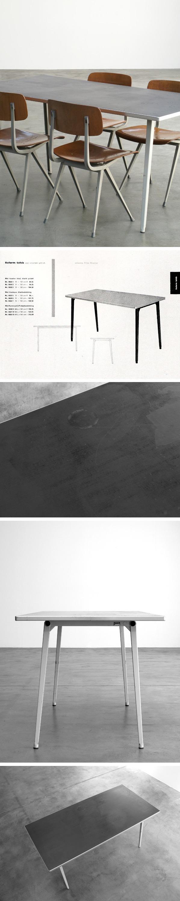 Friso Kramer Reform table 1955 Industrial design Large