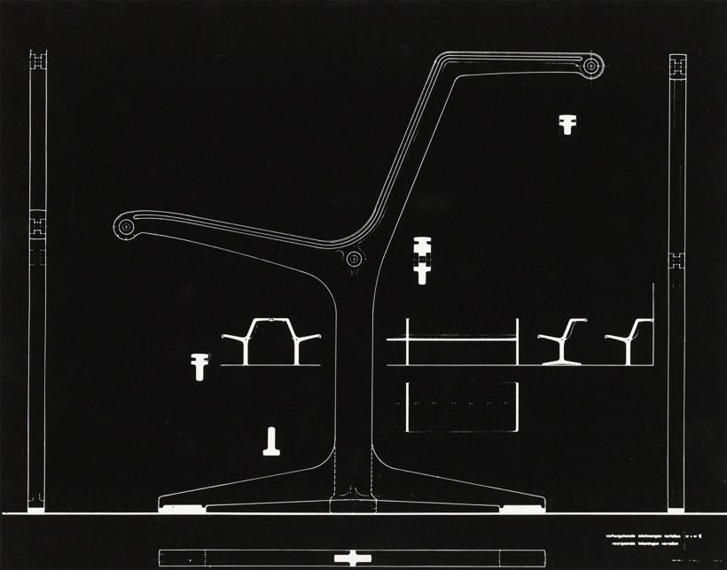 Friso Kramer Wilkhahn grey fiberglass double bench 1967 img 8