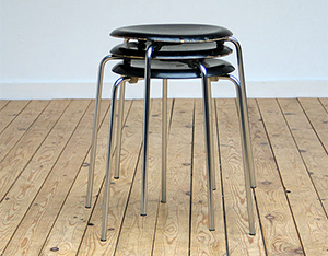 Fritz Hansen stacking stools 1963 model no. 3170