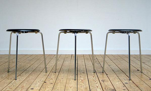 Fritz Hansen stacking stools 1963 model no. 3170