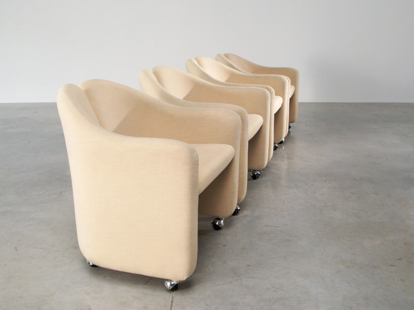 Gerli Eugenio 4 lounge chairs Tecno Milano