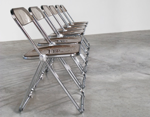 Giancarlo Piretti set of 6 Plia folding chairs