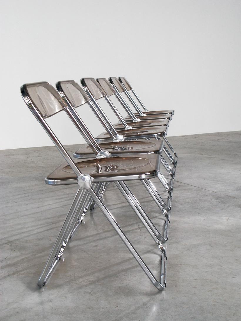Giancarlo Piretti set of 6 Plia folding chairs