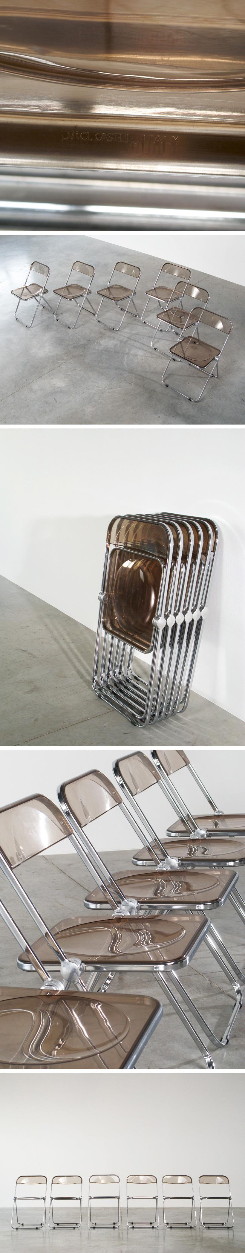 Giancarlo Piretti set of 6 Plia folding chairs Large