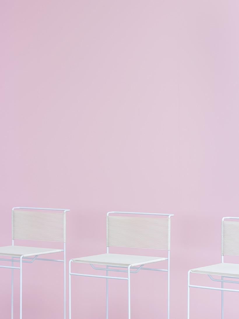 Giandomenico Belotti three bar stools for fly line