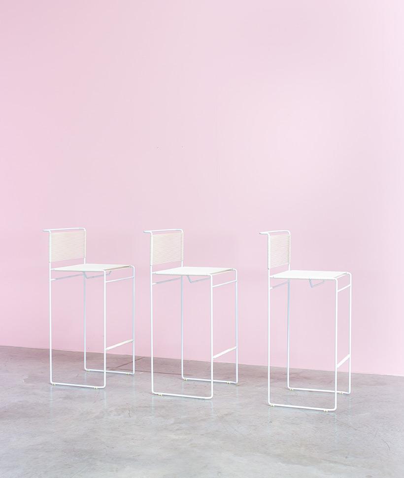 Giandomenico Belotti three bar stools for fly line img 4