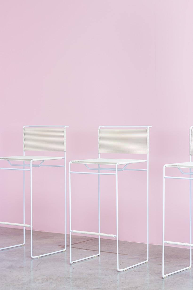 Giandomenico Belotti three bar stools for fly line img 5