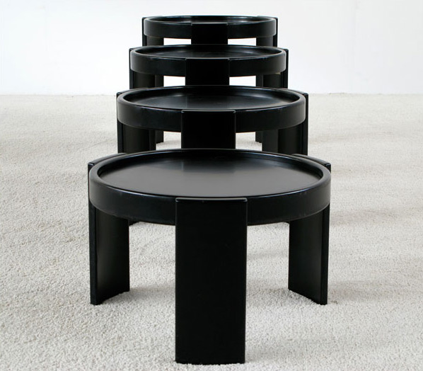 Gianfranco Frattini four stacking low tables