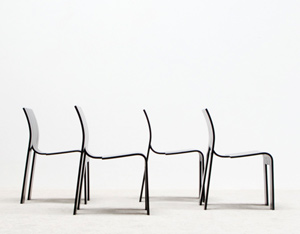 Gijs Bakker 4 strip chairs SC for Castelijn