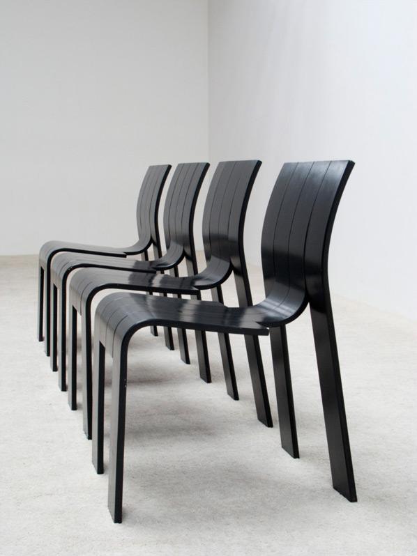 Gijs Bakker 4 strip chairs SC for Castelijn