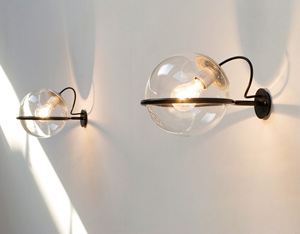 Gino Sarfatti Arteluce pair of wall lamps