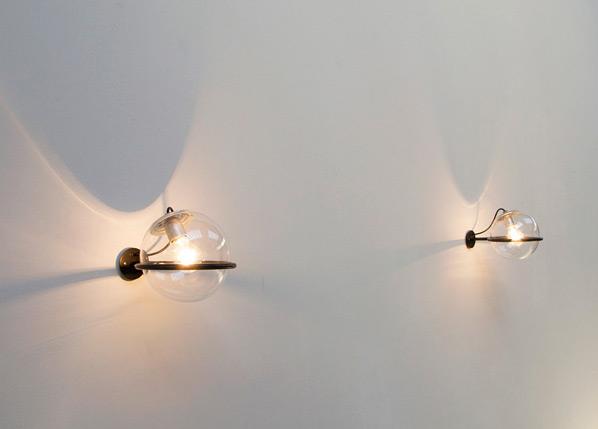 Gino Sarfatti Arteluce pair of wall lamps