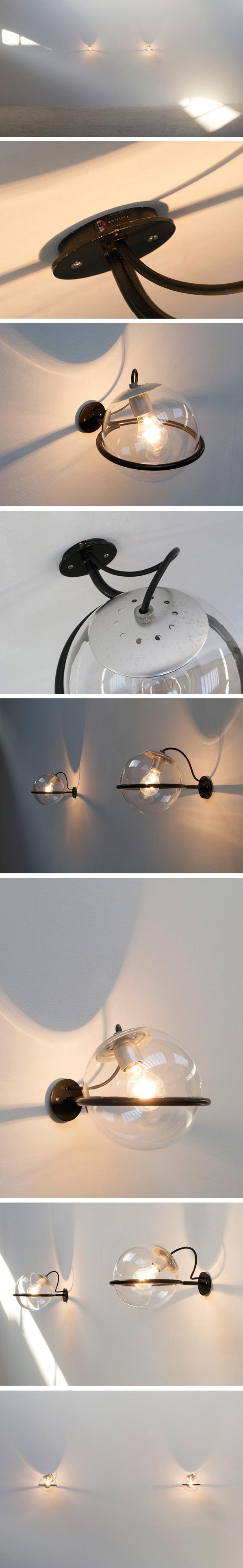 Gino Sarfatti Arteluce pair of wall lamps Large