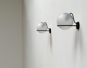 Gino Sarfatti Arteluce pair of wall sconces