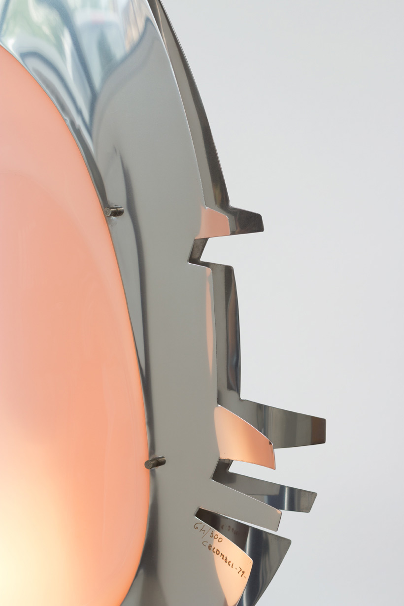 Giuseppe Calonaci sculptural table light Cathedrals of sky 1970 img 5