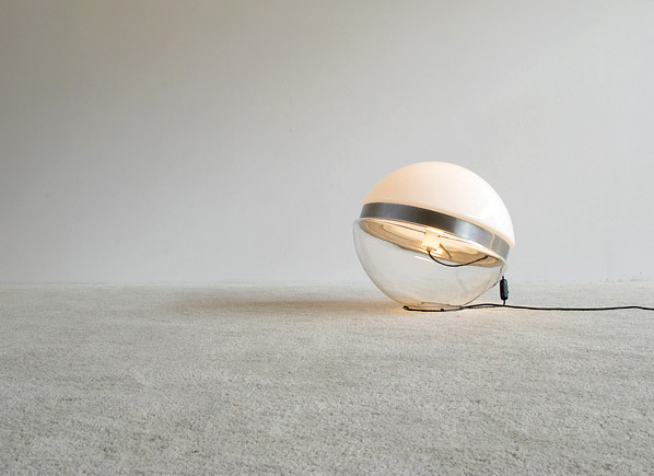 Glass ball floor lamp